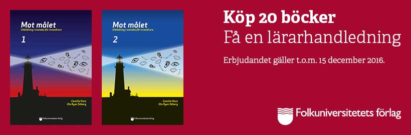 Köp 20 böcker. Få en lärarhandledning. Erbjudandet gäller t.o.m. 15 december 2016.